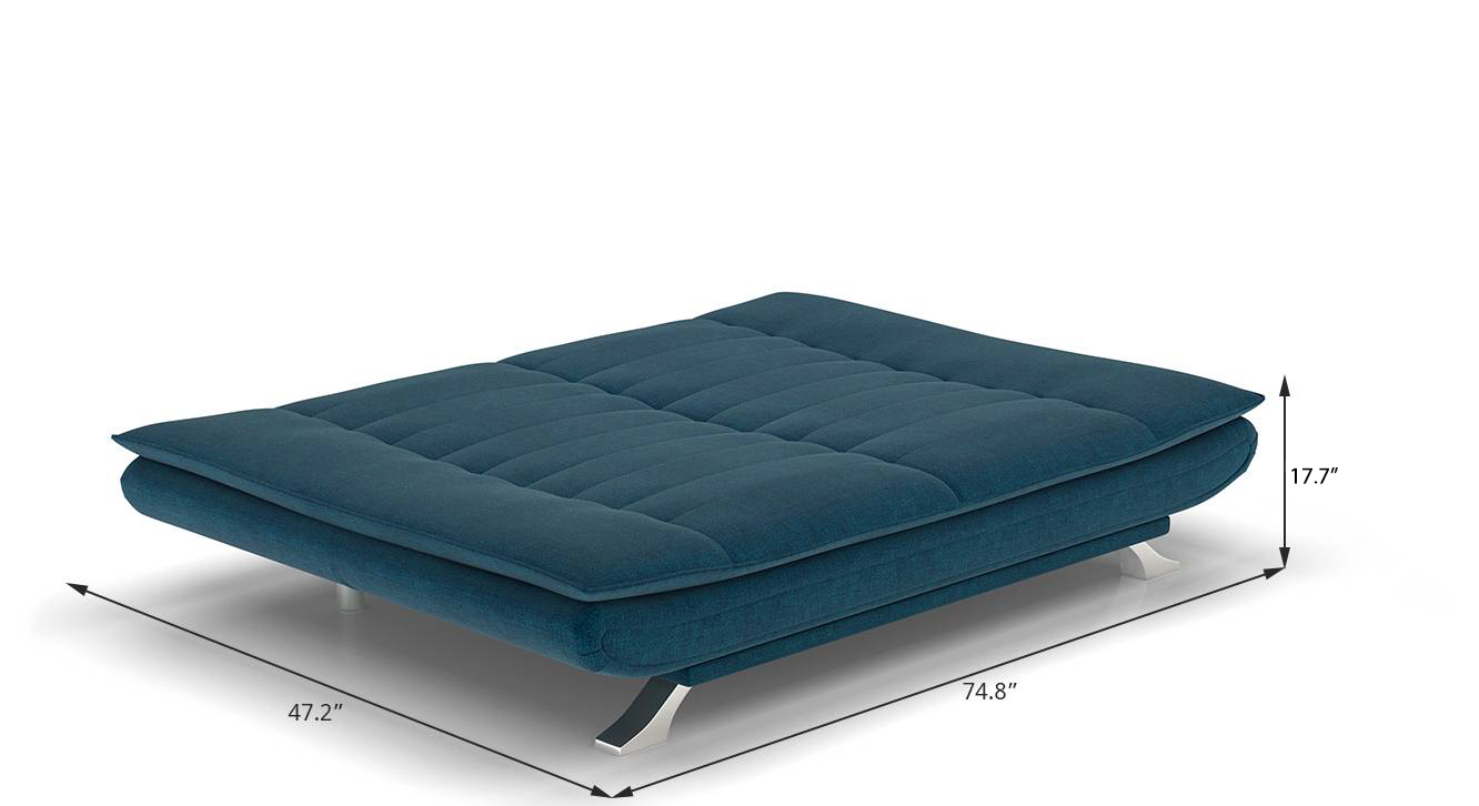 Edo sofa cum bed blue new 510
