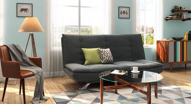 Edo Sofa Cum Bed (Grey) by Urban Ladder - Design 1 Full View - 146259