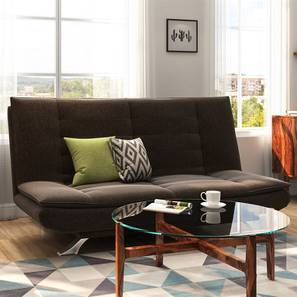 Edo Sofa Cum Bed (Brown) by Urban Ladder