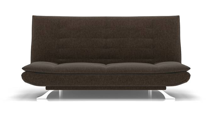 Edo Sofa Cum Bed (Brown) by Urban Ladder - Front View Design 1 - 146273