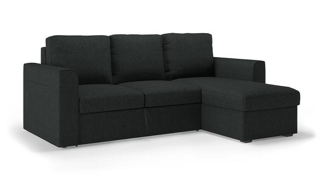 Kowloon Sectional Sofa Cum Bed with Storage (Charcoal Grey) by Urban Ladder