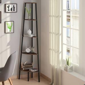 Wallace Corner Bookshelf (Wenge Finish) by Urban Ladder