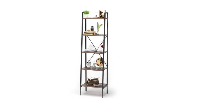 Wallace Bookshelf/Display Unit (35-book capacity) (Wenge Finish) by Urban Ladder - Design 1 Semi Side View - 147110