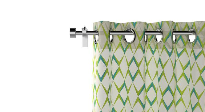 """Dresden Embroidered Sheer Curtains - Set Of 2 (Green, Door Curtain Type, 52""""x84"""" Curtain Size) by Urban Ladder"""