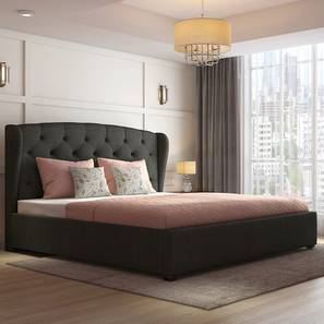 Holmebrook Upholstered Essential Bedroom Set (Queen Bed Size, Charcoal Grey) by Urban Ladder