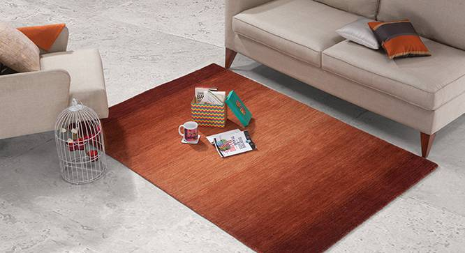 "Aurora Hand Loom Carpet (152 x 236 cm  (60 x 93"") Carpet Size, Paprika Red) by Urban Ladder - Design 1 Full View - 148464"