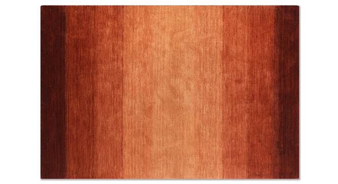 "Aurora Hand Loom Carpet (152 x 236 cm  (60 x 93"") Carpet Size, Paprika Red) by Urban Ladder - Front View Design 1 - 148465"
