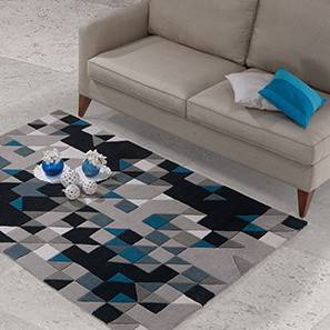 Mandel hand tufted carpet navy black lp