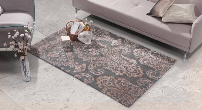 "Savoy Hand Tufted Carpet (Grey, 122 x 183 cm  (48"" x 72"") Carpet Size) by Urban Ladder - Design 1 Full View - 148509"