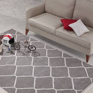 "Virginia Hand Tufted Carpet (Grey, 122 x 183 cm  (48"" x 72"") Carpet Size) by Urban Ladder - - 38660"