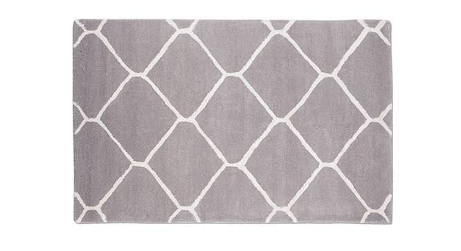 "Virginia Hand Tufted Carpet (Grey, 48"" x 72"" Carpet Size) by Urban Ladder"