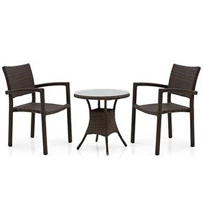 Danum Calabah Patio Set (Brown) by Urban Ladder