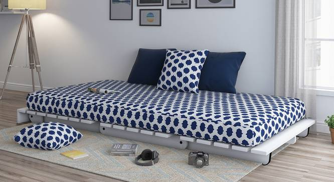 Finn Futon Sofa Cum Bed (Inkblot Blue) by Urban Ladder