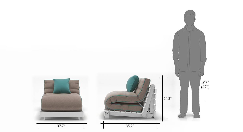 Finn futon sofa bed cinnamon dust 13