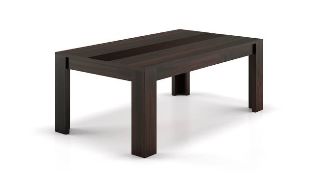 Striado Coffee Table (Mahogany Finish, Without Shelves Configuration) by Urban Ladder