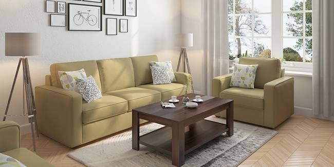 Apollo Leatherette Sofa (Butterscotch) (Butterscotch, Leatherette Sofa Material, Regular Sofa Size, Regular Sofa Type)