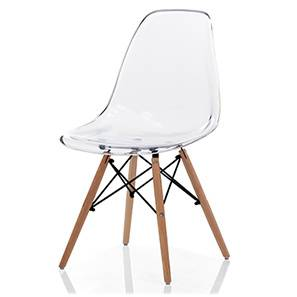 DSW Chair Replica (Clear) by Urban Ladder - Full View - 150898
