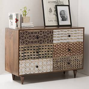 Emaada Chest Of Six Drawers (Teak Finish) by Urban Ladder - - 15146