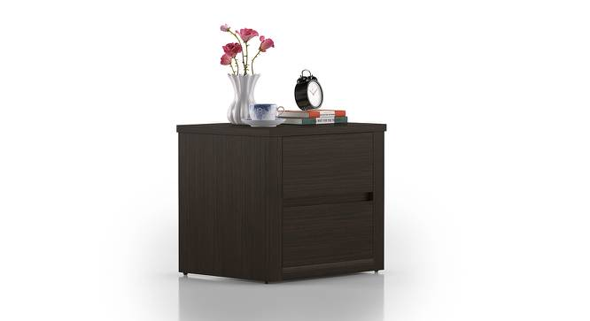 Barrie Bedside Table (Dark Walnut Finish) by Urban Ladder