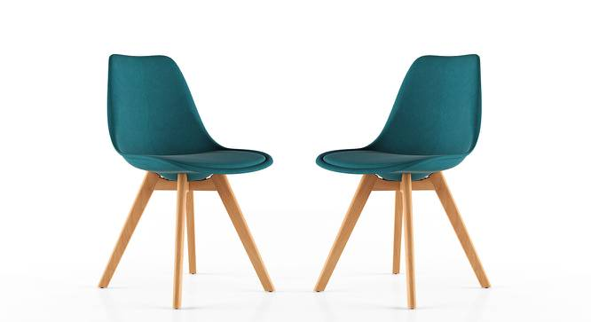 Pashe Dining Chairs - Set of 2 (Teal) by Urban Ladder - Front View Design 1 - 152322