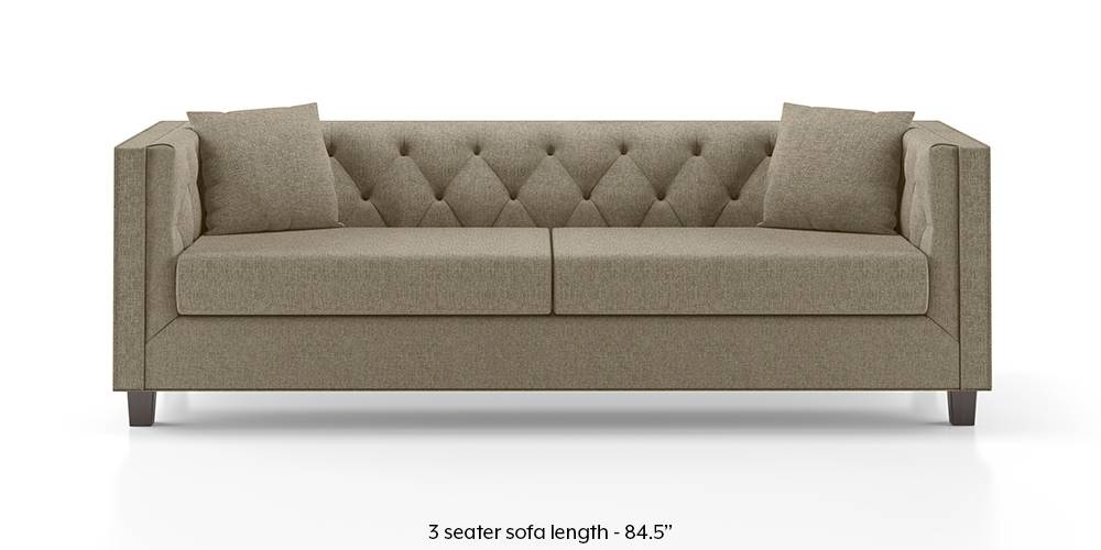 Windsor Sofa (Mist Brown) (Mist, Fabric Sofa Material, Regular Sofa Size, Regular Sofa Type) by Urban Ladder - - 152347