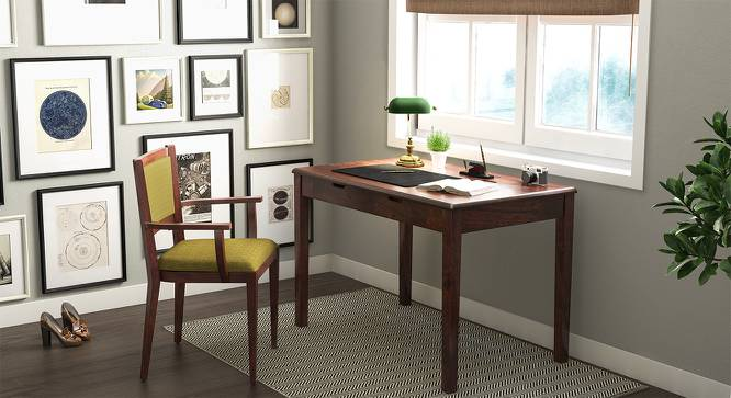 Angelou Study Desk (Walnut Finish) by Urban Ladder - Full View Design 1 - 152377
