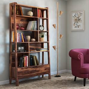 Alberto Bookshelf/Display Unit (85-book capacity) (Teak Finish) by Urban Ladder - Full View Design 1 - 153020