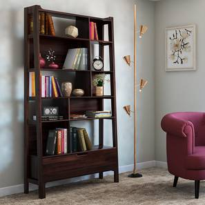 Alberto Bookshelf/Display Unit (85-book capacity) (Mahogany Finish) by Urban Ladder - Full View Design 1 - 153009