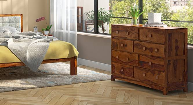 Magellan Chest Of Eight Drawers (Teak Finish) by Urban Ladder - Full View Design 1 - 153545
