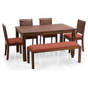 Arabia xl oribi dining table sets with bench teak orange lp