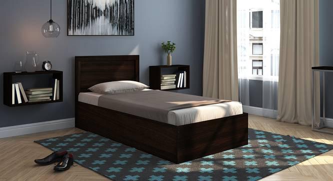 Covelo Storage Single Bed (Single Bed Size, Dark Walnut Finish, Box Storage Type) by Urban Ladder