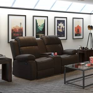Robert Motorized Home Theatre Rocker Recliner Sofa (Chocolate Leatherette) by Urban Ladder - Design 1 - 154508