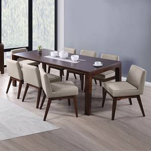 Arco leon 8 seater dining table set beige 01 2