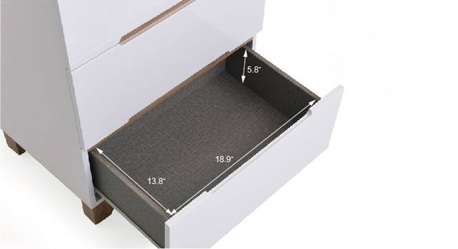 Oslo High Gloss Chest of Drawer Set by Urban Ladder - Design 2 Template - 155331