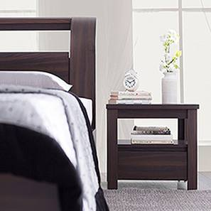 Alcott Bedside Table (Dark Walnut Finish, With Drawer Configuration) by Urban Ladder