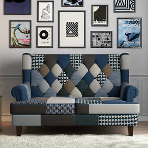 Minnelli Loveseat (Indigo Patch Work) by Urban Ladder - Design 1 - 155401