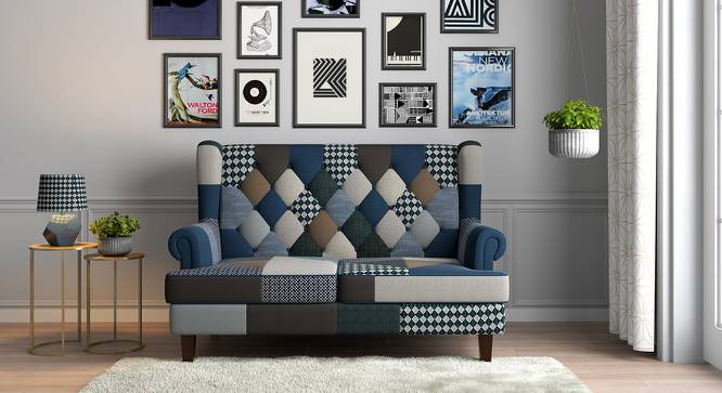 Minnelli Loveseat (Indigo Patch Work) by Urban Ladder