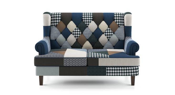 Minnelli Loveseat (Indigo Patch Work) by Urban Ladder - Front View Design 1 - 155403
