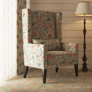 Morgen Wing Chair (Calico Print) by Urban Ladder