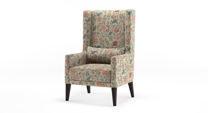 Morgen Wing Chair (Calico Print) by Urban Ladder - Front View Design 1 - 155507