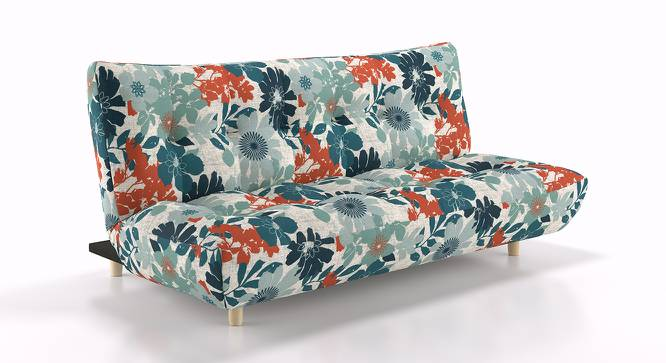 Palermo Sofa Cum Bed (Floral) by Urban Ladder - Front View Design 1 - 155520