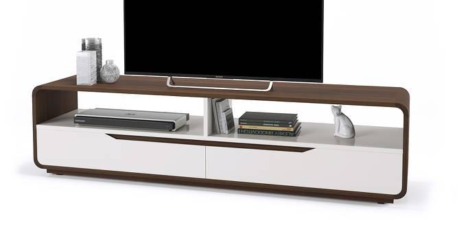 Baltoro High Gloss TV Unit (White Finish) by Urban Ladder - Design 1 Half View - 155623