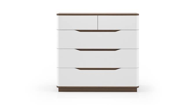 Baltoro High Gloss Chest of Drawers (White Finish) by Urban Ladder