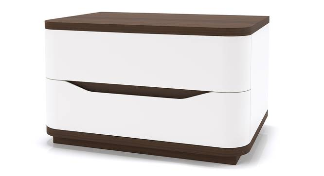 Baltoro High Gloss Bedside Table (White Finish) by Urban Ladder - Design 1 - 155652