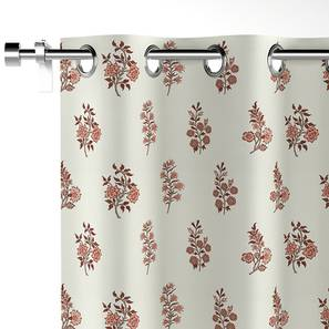 "Calico Curtains - Set Of 2 (52""x84"" Curtain Size, Leaves & Blossoms Pattern) by Urban Ladder"