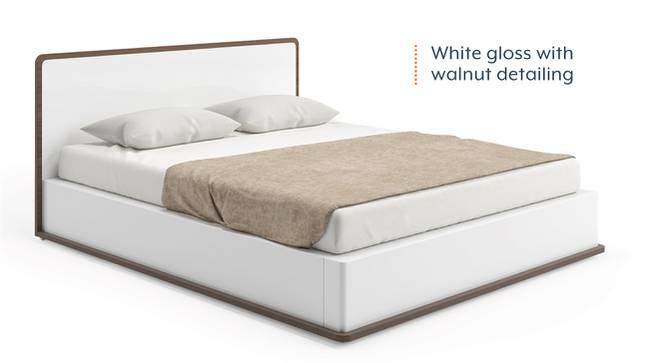 Baltoro High Gloss Hydraulic Storage Bed (Queen Bed Size, White Finish) by Urban Ladder