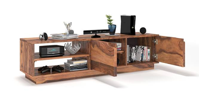 Zephyr TV Unit (Teak Finish) by Urban Ladder - Design 1 Half View - 156035