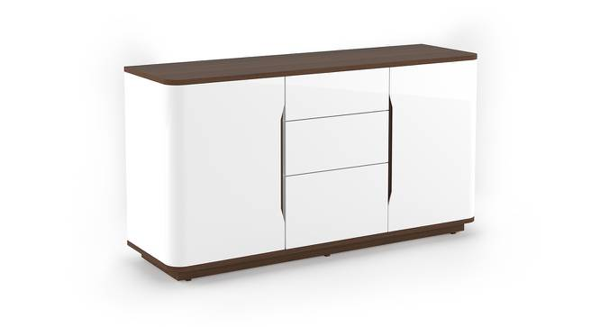 Baltoro Wide High Gloss Sideboard (White Finish) by Urban Ladder - Front View Design 1 - 156420