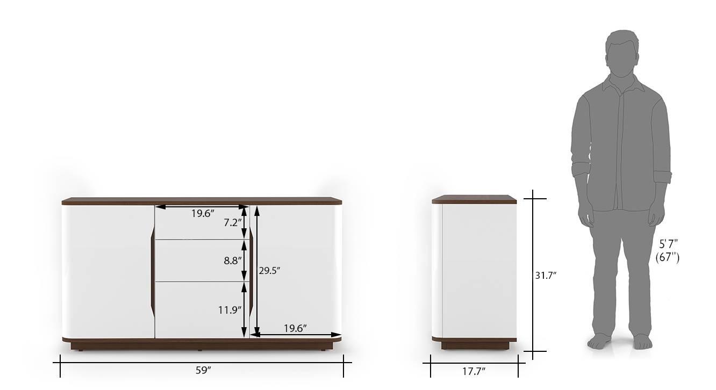 Baltoro high gloss sideboard white 71 new