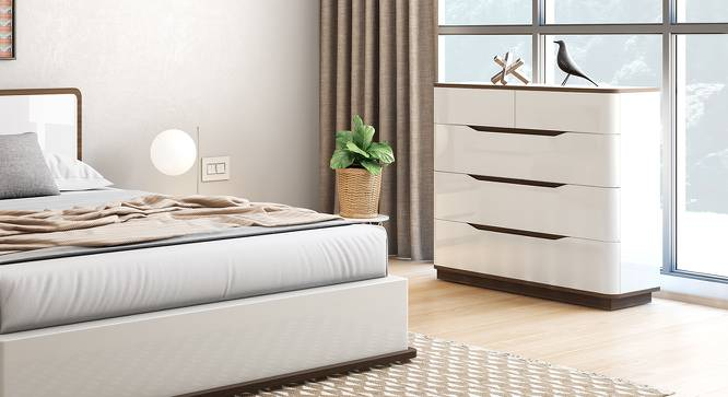 Baltoro High Gloss Chest Of Five Drawers (White Finish) by Urban Ladder - Full View Design 1 - 156486